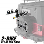 Fieryred 2-bike Spare Tire Rack 75 Lb. Capacity Spare Tire Bicycle Carrier