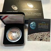 2019 Apollo 11 Commemorative Proof Silver Dollar With Ogp.