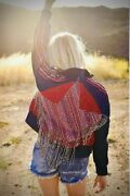 Free People Nwt Size Xl Crazy Cool American Star Fringe Jacket Usa New