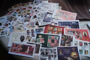 Large Lot Of Royalty Stamps Incd Minature Sheets With Special Cancels