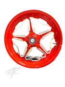Yzf Stock Size Red Contrast Cut Speed Star Wheels 2009-2014 Yamaha Yzf R1