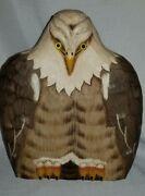 Hand Carved Eagle Statue James Hadden Collection Soaring 10 Inches Tall