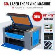 50w 12x20 Inch Co2 Laser Engraver Cutter Machine With Air Assist For Home Office