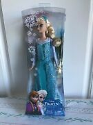 New Classic Frozen Disney Sparkle Elsa Of Arendelle Doll-12 2013 Hard To Find