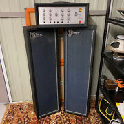 Vintage 1970s Selmer Pa 100 Sv And Tv 35pa Speakers Valve Amplifier Head W/ Covers