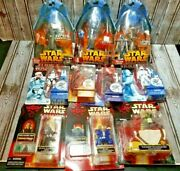 Lot Of 10/ Star Wars Figures/ Force Awakens, Revenge Of The Sith, Episode 1