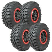 28 Maxxis Rampage Tires 14 System3 Sb4 6+1 Wheels Red Rzr 900 Trail Xc S