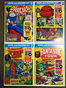 Power Records 1974 Lot 4 Book/record Ff Spiderman Werewolf Dracula Vf To Vg
