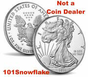 In Hand 2021 W American Eagle One Ounce Silver Proof Coin 21ea Type 1