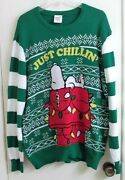 Peanuts' Snoopy Just Chillin' Christmas Sweater Adult Xl X-large New With Tags
