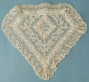 Antique Normandy Lace Trim Modesty Panel Christening Gown Bridal Wedding Dress