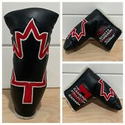 Scotty Cameron Headcover Tcc Canadian Maple Leaf Industrial Black Leather Cover