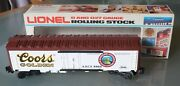 09/20. Lionel Rolling Stock Coors Billboard Reefer 6-9866 Freight Boxcar