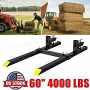 60 4000 Lbs Clamp On Pallet Forks Stabilizer Bar Rate Loader Bucket Tractor Usa