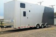 2020 Lightly Used Atc 28and039 Enclosed Car Hauler Enclosed Trailer 9and039 6 Interior