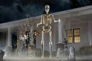 New 12 Foot Ft Tall Giant Skeleton, Animated Lcd Eyes Halloween Prop, Sold Out