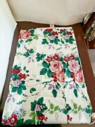 Waverly Valance Layered Pleasant Valley Roses Floral Fruit Leaf Motif 74x15