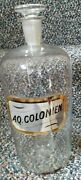 Antique Large 11 1/2 Glass Apothecary Jar/glass Label