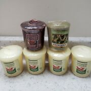 Yankee Candle Lot Holiday Bayberry Christmas Cookie Candied Pecans Candles New