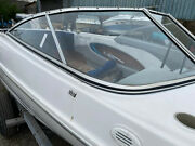 1998 Bayliner Capri 1750 Ls Right Side Curved Windshield Glass Whole Piece
