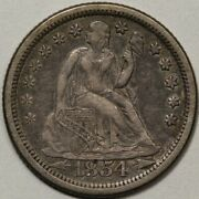 1854-o Arrows Seated Liberty Dime Vf Lots Of Seated Dimes At Rrc