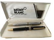 Mont Blanc Ball Point Pens With Case