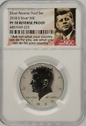 2018-s Silver Kennedy Half Dollar Ngc Pf 70 Reverse Proof Free Shipping