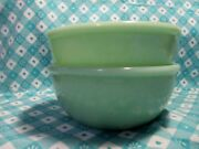 Fire King / Ah 2000 Jadeite Restaurant Chile Bowls X 2 In Very Good Condition