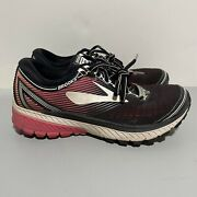 Brooks Ghost 10 Running Shoes Lace Up Purple Pink Black Women's Size 6.5 D Wide