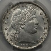 1899 Barber Half Dollar Pcgs And Cac Au-58 A Pq Lustrous Beauty