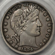 1896-o Barber Half Dollar Pcgs And Cac Xf-40 Very Tough And Very Original