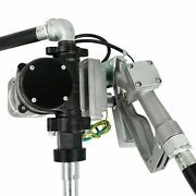 Fuel Gasoline Transfer Pump Manual Nozzle Kit W/ 14and039and039 Hose 15gpm 12v Gas Diesel