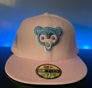 Leaders1354 New Era Cotton Candy Chicago Cubs Sky Blue Uv Not Hat Club Sz 7 1/2