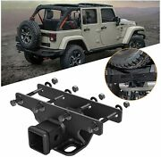 2 Inch Rear Trailer Receiver Towing Hitch For 07-18 Jeep Wrangler Jk Unlimited