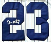 Don Mattingly Signed Jersey Size Large 1995 Jersey In Honor Of Mickey Mantle 7