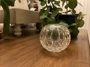 Waterford Lismore Crystal Round Vase Rose Bowl 5 1/2 Tall Excellent No Chips
