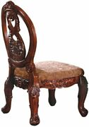 Furniture Of America Victoire French Style Side Chair, Antique Cherry, Set Of 2