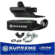 Heavy-duty Hitch Skid Plate With 3/4 D-ring Shackle And Tow Strap Recovery Kit