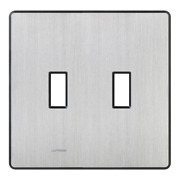 Lutron Toggle Light Switch Plate 2-gang Snap-on Installation Stainless Steel
