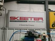 Yamaha Skeeter Boat Double Sided, Lighted Sign 3' X 6'