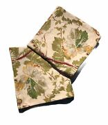 Pottery Barn Bird Grapes Leaves Floral Pillow Cover 24 X 24 Set Of 2