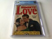 Romantic Love 1 Cgc 3.0 Very Hard To Find Rare Brittle Pages Avon Comic