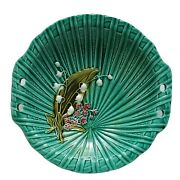 Majolica 4583 Germany Plate Dish Lily Of The Valley Rare Antique Ceramic 7.5