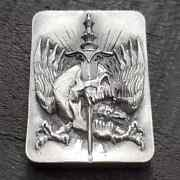 Limited Reckless Metals 4 Oz .999 Fine Silver Hr Poured Art Bar - 500 Minted