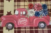 Pioneer Woman Country Iron Art Plaque Hello Summer Vintage Truck W/flowers