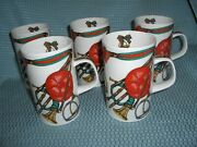 Five Fine Bone China Mugs - Made In England - Exquisite Pieces