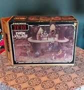 Vtg 1983 Star Wars Rotj Ewok Village Action Playset Kenner With Box Instructions