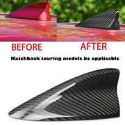 Roof Antenna Cover Real Carbon Fiber Shark Fin For 16-18 Mazda3 Hatch Touring