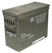 Us Army Olive Large Metal Ammo Box Used Military Surplus Size 7