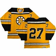 Bobby Orr Signed Boston Bruins 1966 Yellow Vintage Ccm Rookie 27 Jersey